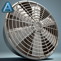 industrial fan 3d model