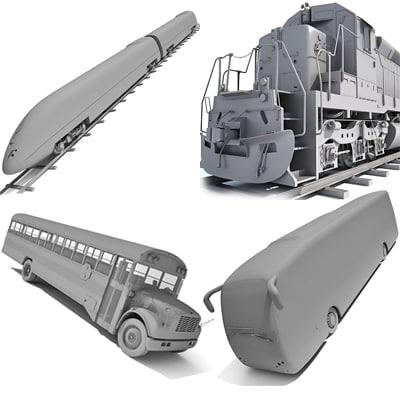 3d train wagon