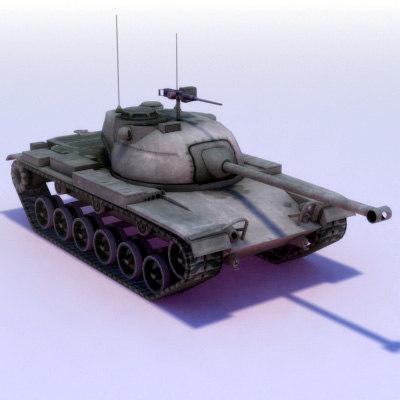 3d m47 patton tank 3dmodel