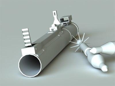3d model m72 rockets