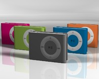 apple ipod shuffle colors 3d model