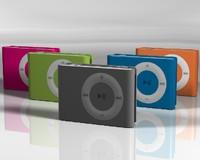 apple ipod shuffle colors 3d model