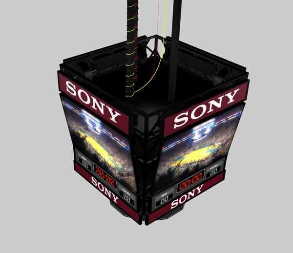 3d sports arena jumbo-tron model