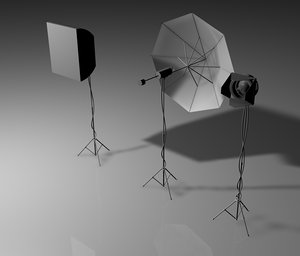 3d photography studio lights umbrella