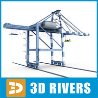 Gantry crane 01 by 3DRivers