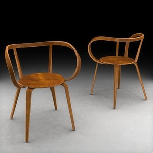 plywood chair 3d model