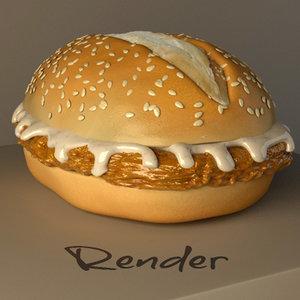 chicken sandwich 3d 3ds