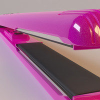 hair curling iron 3d model