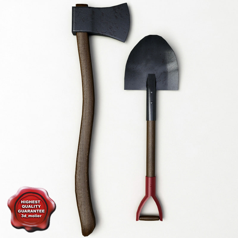 shovel axe 3d 3ds