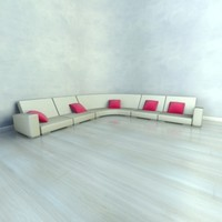 sofa designed simple 3d model