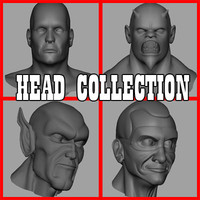 3d model of heads human male