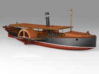 3ds max paddle steamboat