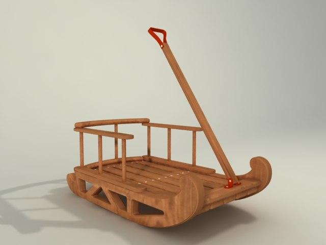 sled toy 3d model
