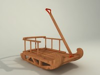 sled toy 3d model