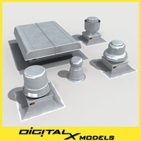 rooftop HVAC ventilation diffusers pack