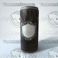 beverage aluminum energy 3d model