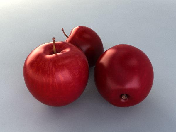 3ds max photorealistic apple