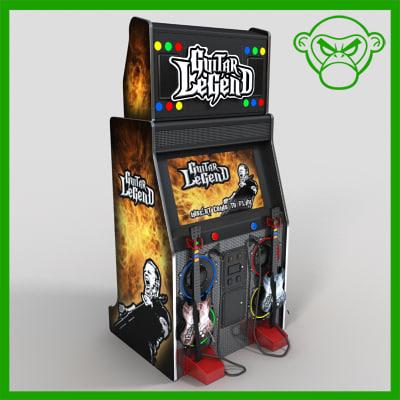 3d arcade guitar model