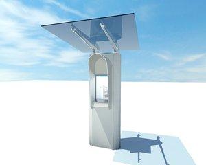 3d model internet kiosk