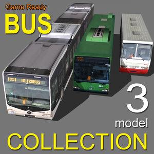 3d model bus 3