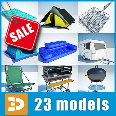 3d model camping equipment