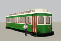 3d model antique streetcar