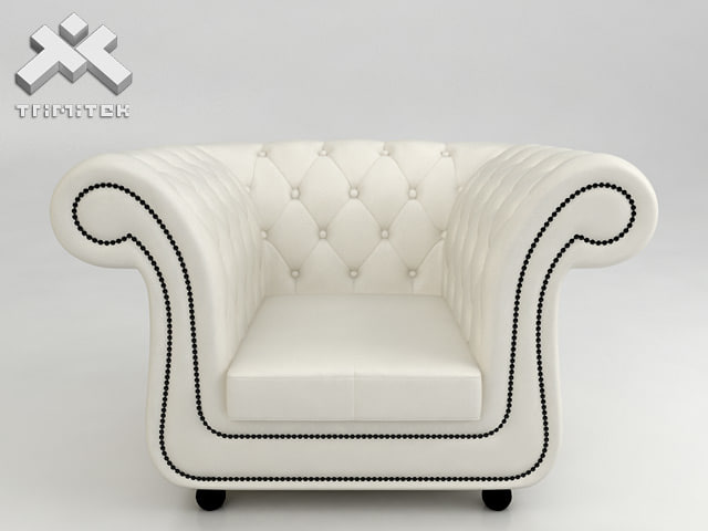 chesterfield style armchair 3d model