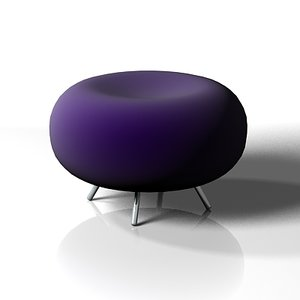 modern chair pebble 3d model