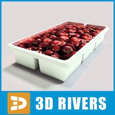 3d model box cherries