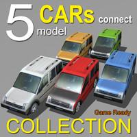 5 cars 3d max