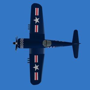 corsair fighter plane 3d model