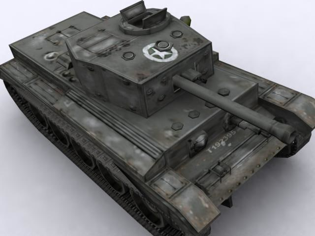 3d model of british cromwell vii tank
