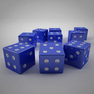 dice reflectiveness 3d max