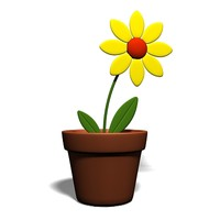 free flower beautiful 3d model