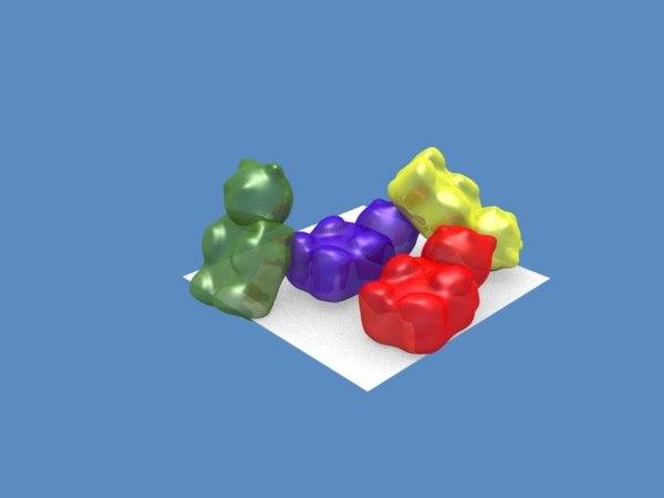 3d gummy bears model