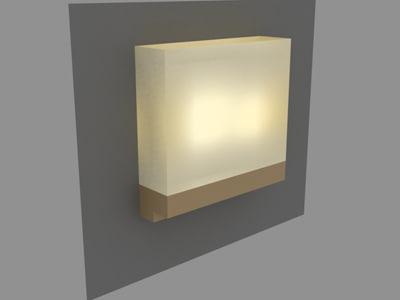 modern wall sconce 3d model
