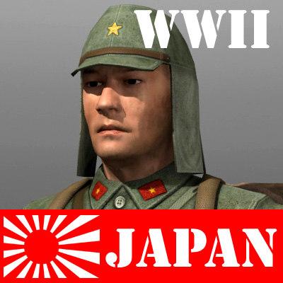 3d model japan japanese soldier
