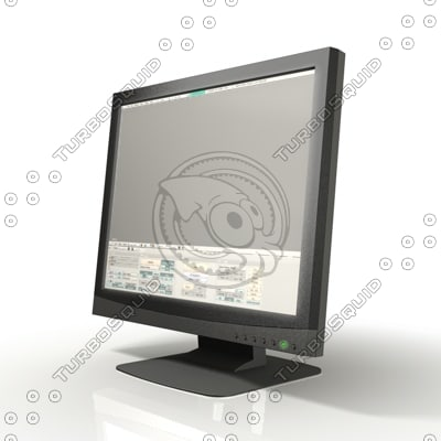 lcd display monitor 3d model
