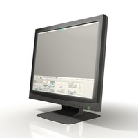 lcd display monitor 3d model