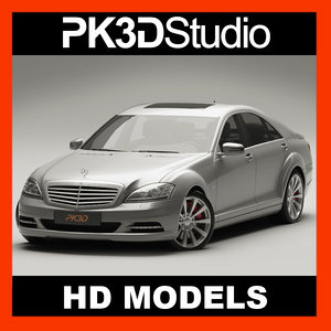 mercedes s class 2009 3d model