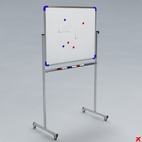 whiteboard board 3d model