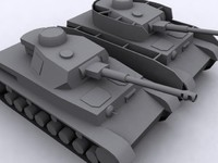 3d german panzer iv model