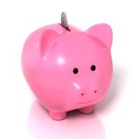 3d piggy-bank pig bank