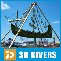 3d 3ds pirate ship ride