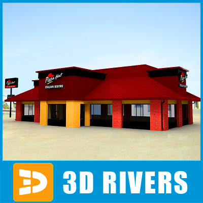 3d model fast food restaurant pizza