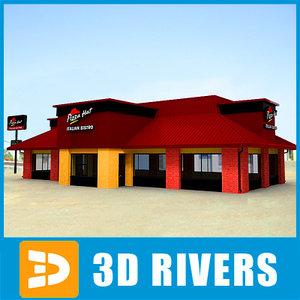 3d model fast food restaurant pizza