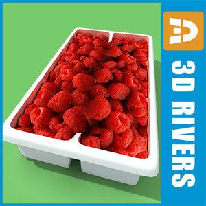 3d model box raspberries
