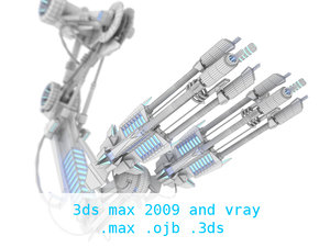 free robotic weapon arms - 3d model