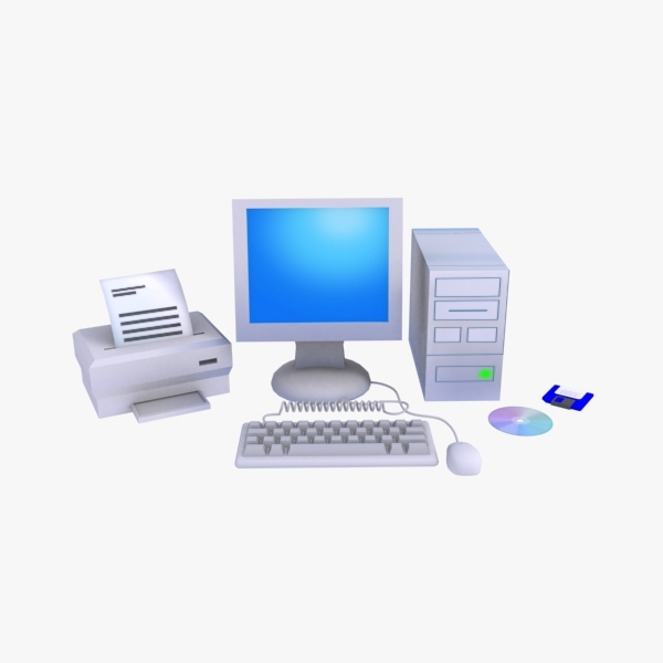 computer kit 3d model