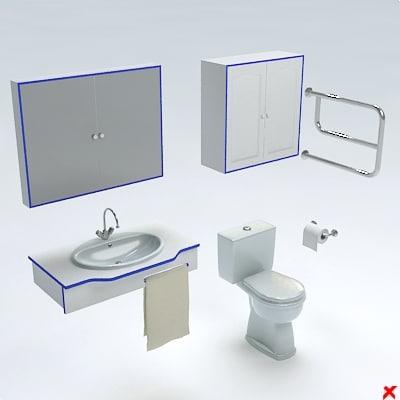 3d model toilet